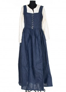 medieval 15th century dress in linen
