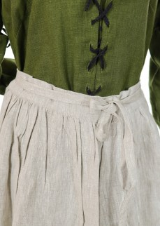 Medieval apron in natural linen