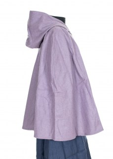 Cape in purple wool