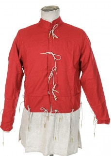 doublet in red wool