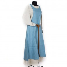 "Medieval dress ""Hella"" in light blue linen"
