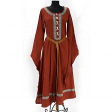 Grön och svart medeltida klänning