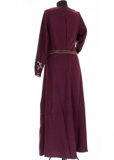 "Woolen Dress ""Sophie"" in burgundy twill"