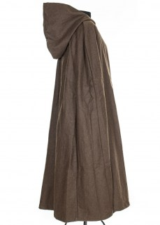 Cloak in brown wool