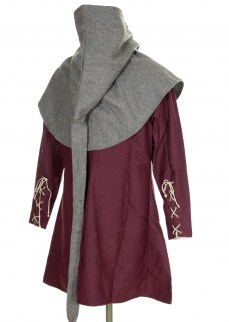 medieval lirirpiped hood in wool