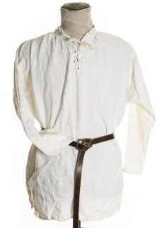 Medieval shirt in white linen