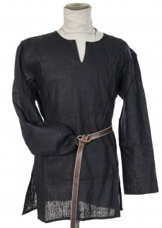 Tunic in black linen