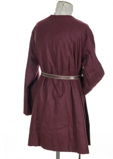 Viking coat in burgundy wool