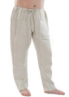 Viking pants in natural linen