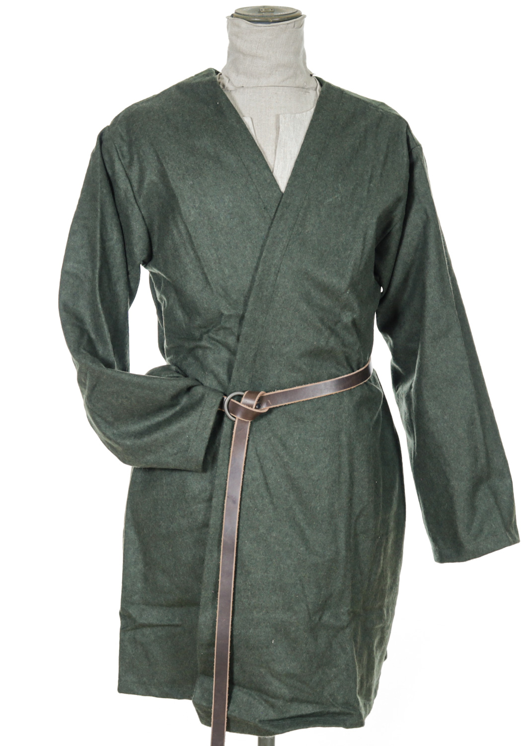 Viking coat in green wool
